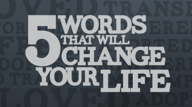 5 words that will change